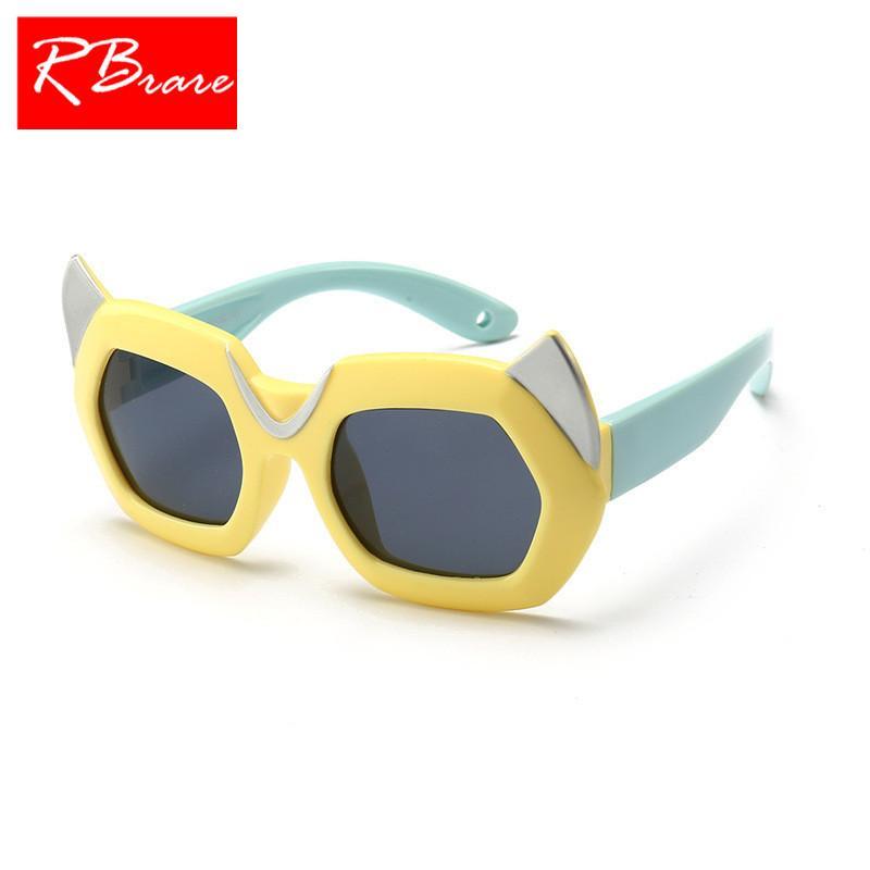 f1af4ecb07 Compre RBRARE 2018 Nuevas Gafas De Sol Polarizadas De Dibujos Animados  Niños Viajes Gel De Sílice Al Aire Libre Gafas De Sol De Color Caramelo  Oculos De Sol ...