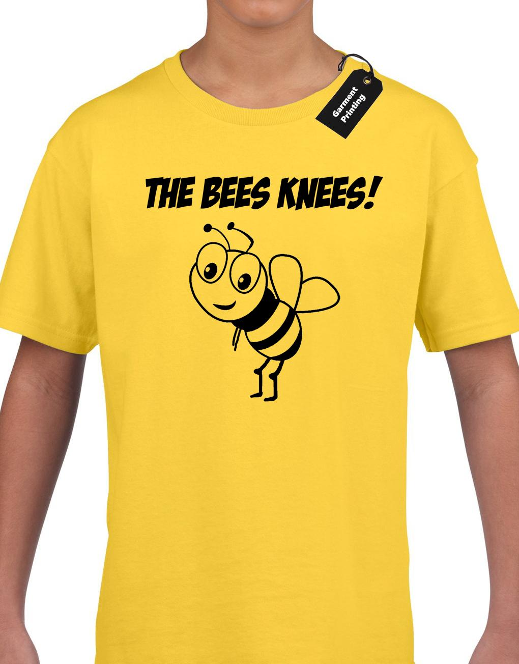 83d75a84b91 THE BEES KNEES KIDS CHILDRENS T SHIRT TOP FUNNY CUTE CARTOON DESIGN TOP BOYS  Funny Unisex Custom Shirt Black Shirts From Young ten