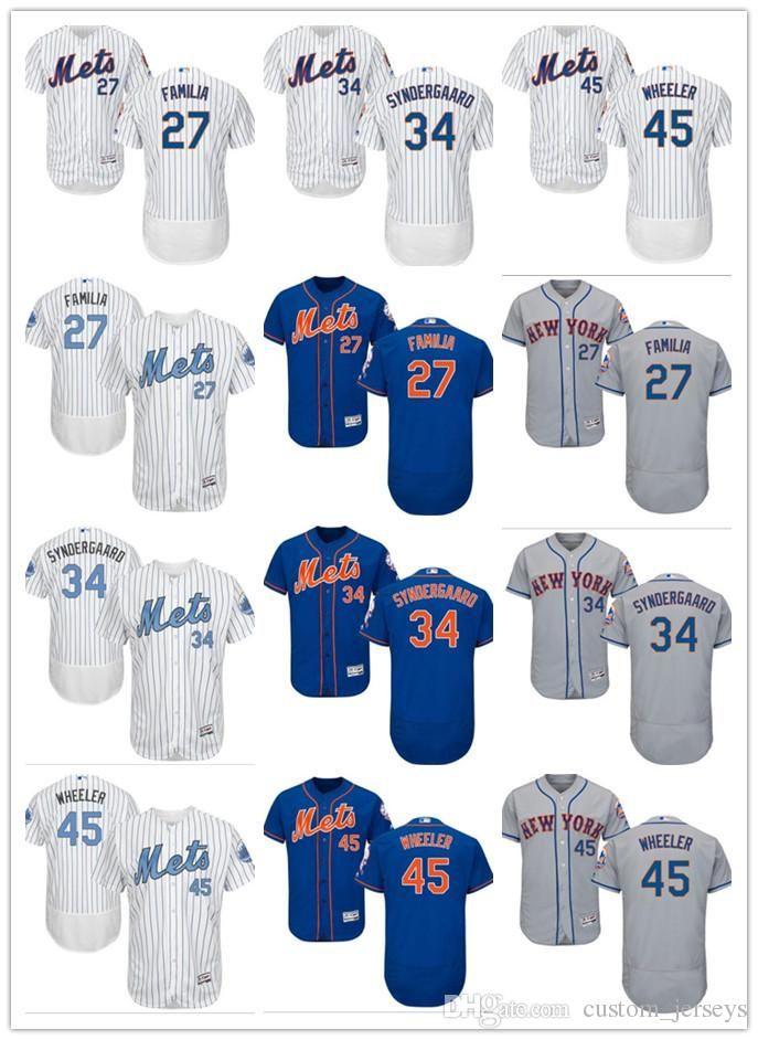 8bd7372dc Custom Men Women Youth New York Mets Jersey  27 Jeurys Familia 45 ...