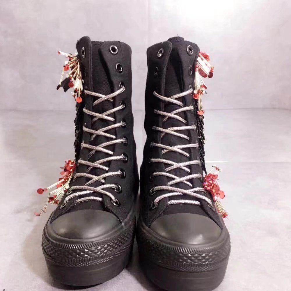 e8d834a63c14e9 Großhandel Frauen Schuhe Offen Von Damen Lange Schnürsenkel Echtes Warm  Halten Wasserdichte Stiefel Reine Farbe Stil