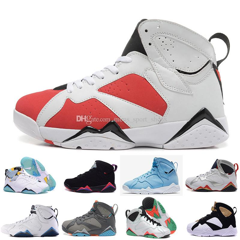 dce518fb673050 7 Men Basketball Shoes UNC Pantone Tinker Alternate Olympic Hares ...