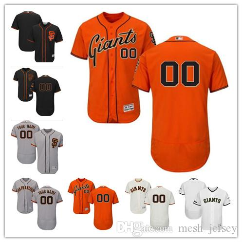 9a8a39f6a6f 2019 Custom Men Women Youth SF Giants Jersey  00 Any Your Name And Your  Number Home Orange Grey White Kids Girls Baseball Jerseys From Tenplus