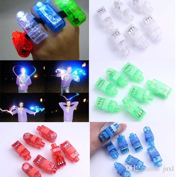 LED Finger Ring Beams Party Nightclub Gadget Glow Laser Light Torch