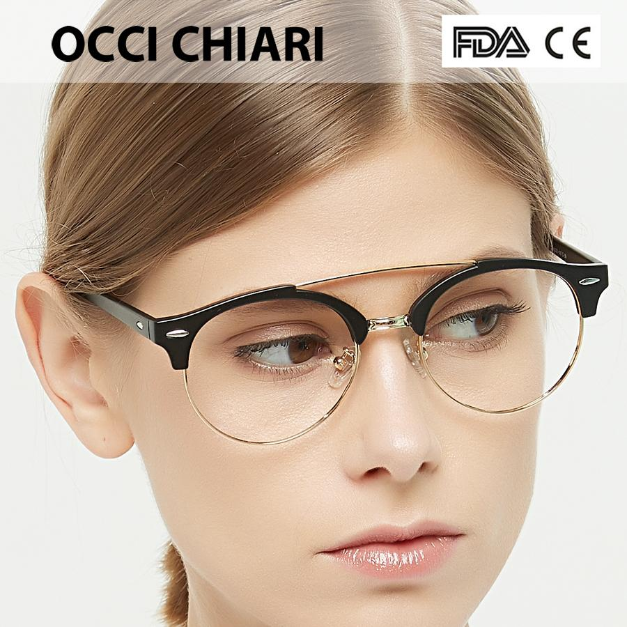 0f7e5166d45 2019 OCCI CHIARI Spectacle Women Frames Eye Glasses Metal Clear Lens  Prescription Eyeglasses Eyewear Myopia Gafas New Fashion W CORTE From  Frenky