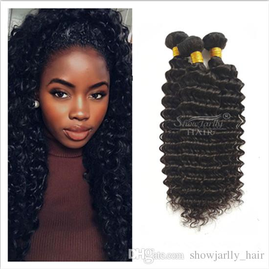 Affordable Brazilian Deep Wave 4 Bundles 100 Human Hair 8A Unprocessed  Natural Color Brazilian Virgin Hair Extensions 18 20 22 24 Best Weave For  Natural ... fbb0edc0b187