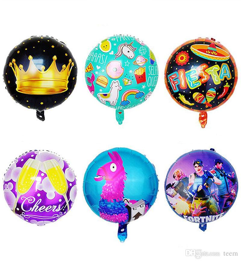 Fortnite Aluminum Foil Balloon christmas gifts Kids Toys Large Balloon Birthday Party Supplies Christmas Halloween Decoration 18 inch toy