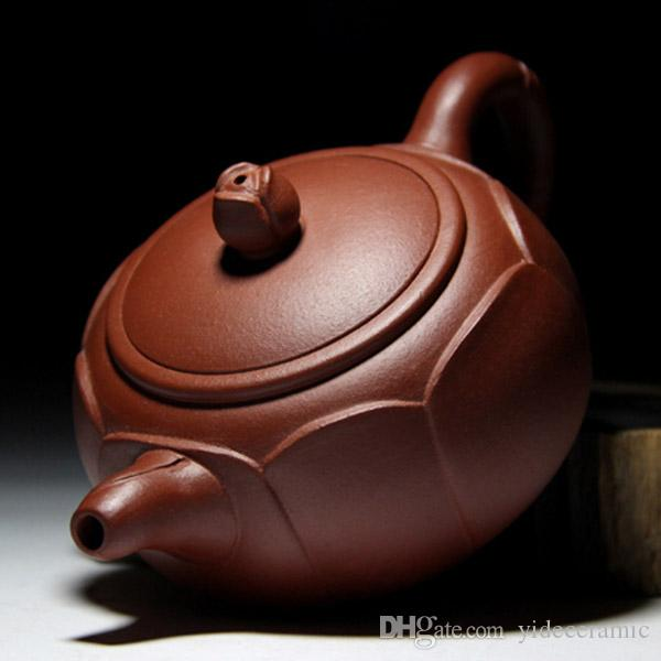 Chinese Yixing Zisha Tea Pot Yixing Zhuni Clay Pottery Teapot with Lotus Flower Shape Design Good Anniversary Gift