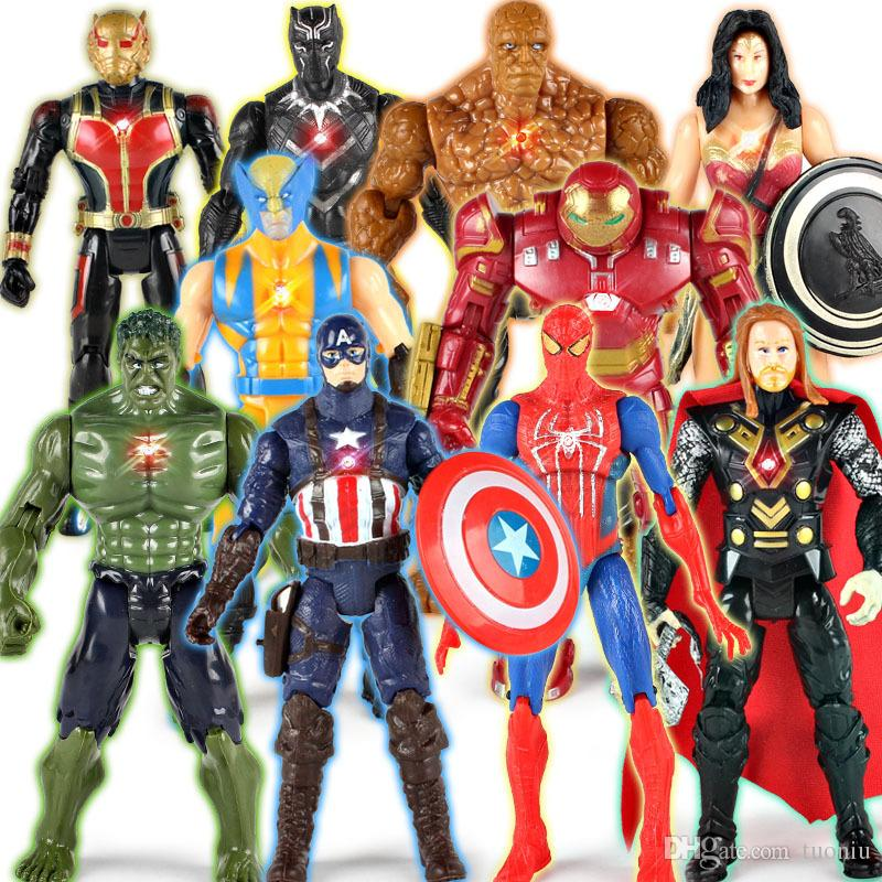 The Avengers PVC Action Figures Marvel Heros 15cm Iron Man Spiderman Captain America Ultron Wolverine Figure Toys Free Shipping