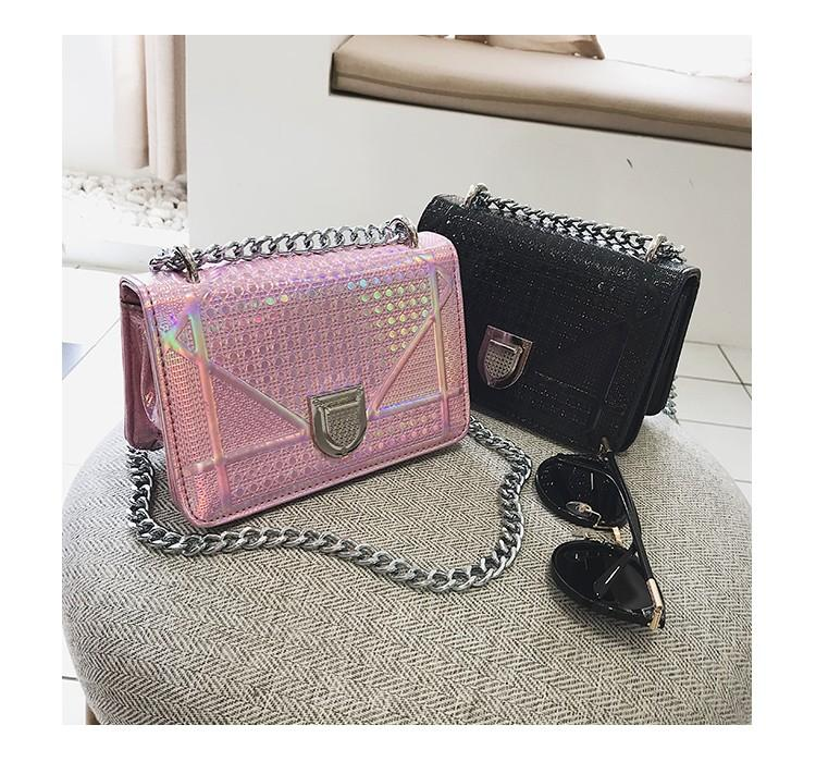 New Fashion Women Handbags Women Pu Leather Shoulder Bag Cross Body Bags  Day Clutch Casual Girl Vintage Chain Bag Ladies Purse Leather Briefcase  From ... 9f67f5e72c3a1