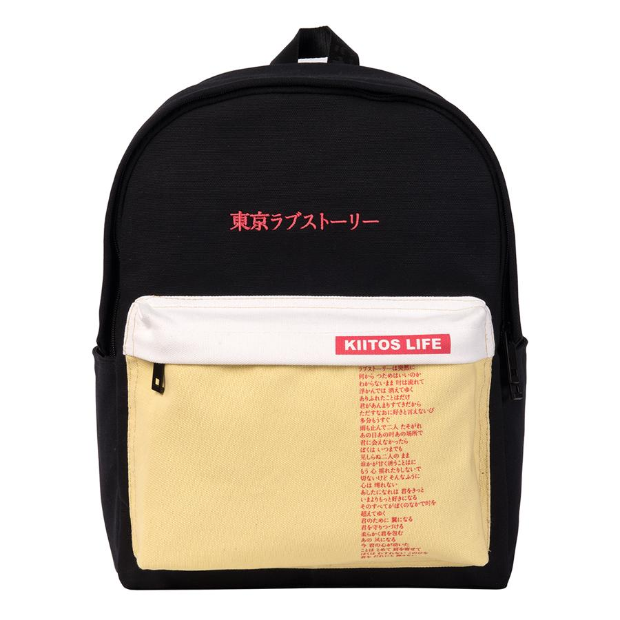 c34f9c2a59 Kiitos Life Canvas Traveling Backpacks For Teenagers In LOVE And PEACE  Series 2 FUN KIK Store Backpacks Bags From Carryleft