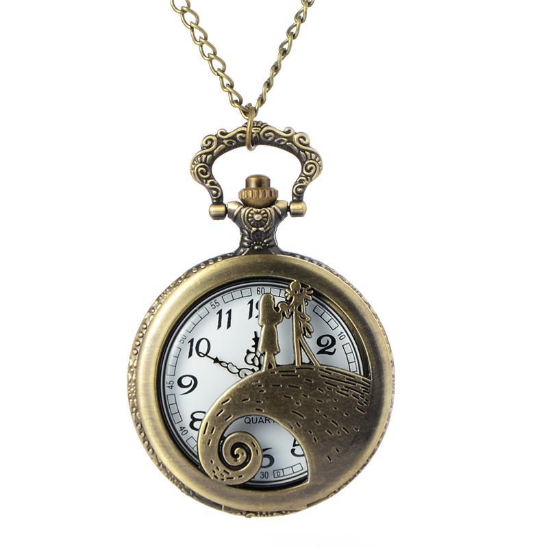 ed79d253c81b Compre Steampunk Bronce Vintage Reloj De Bolsillo Antiguo Esqueleto Hueco  Reloj De Cuarzo Hombres Mujeres Collar Colgante Reloj Reloj De Bolsillo A   35.27 ...