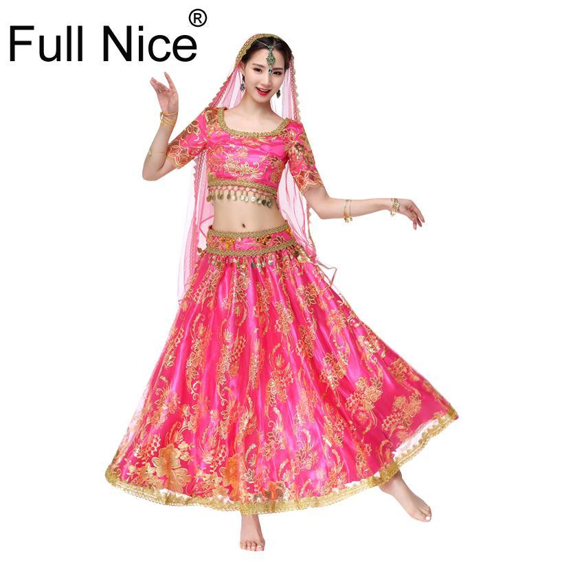 dee851908 2019 Sari Dancewear Women Belly Dance Clothing Set Indian Dance ...