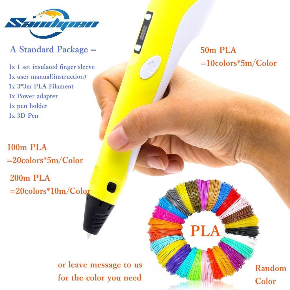2019 3d Pen 3d Drawing Pen Led Screen Educational Gifts 50 100 200