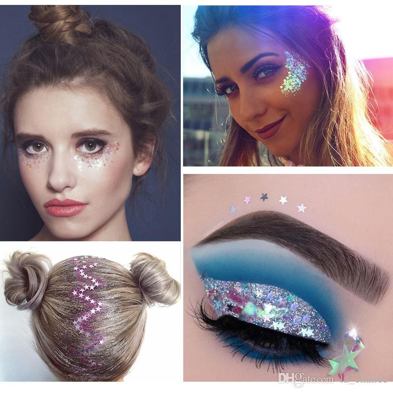2019 Hot Handaiyan fairy colorful glitter gel used in eyes face hair lips in stock with gift