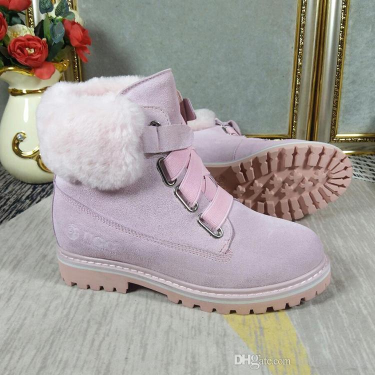 c19d30de3 Snow Boots Warm Women Shoes Fur Plush Insole Fashion High Quality Ankle  Boots Shoes With Origin Box Luxury Plush Booties Luxury Suede Combat Boots  For Women ...