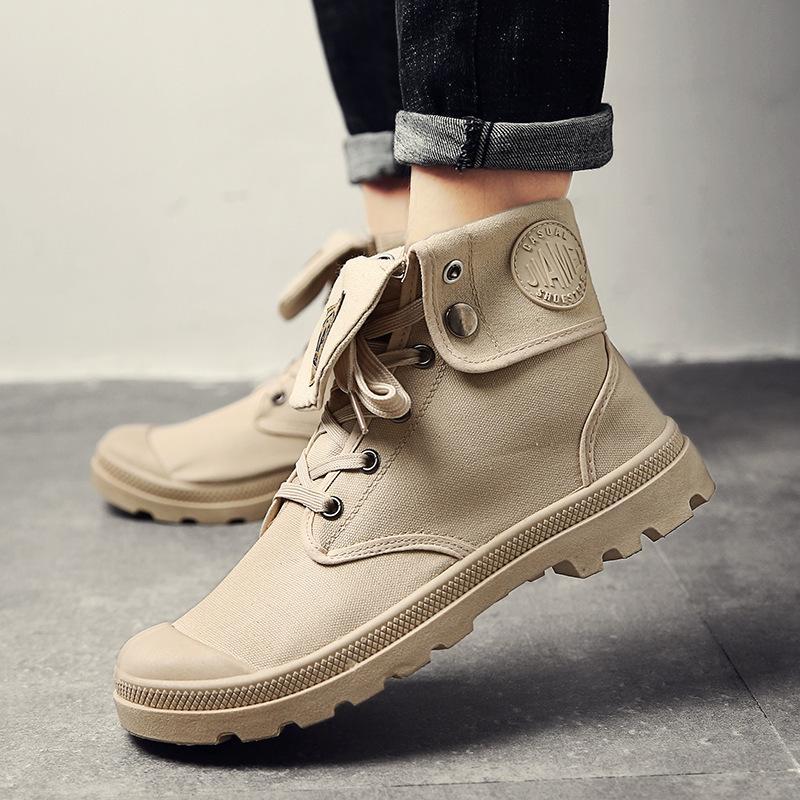 df1febfac15 Compre 2019 2018 Zapatos De Lona De Los Hombres Martin Boots Ocio Botines De  Alta Superior Para Los Planos De Los Planos Del Calzado De Los Pares ...