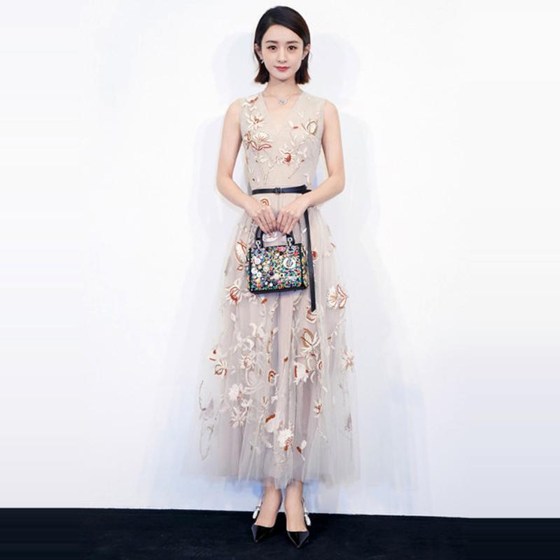 Großhandel Neue 2018 Sommer Star Spaziergang Show Kleid Mode High ...