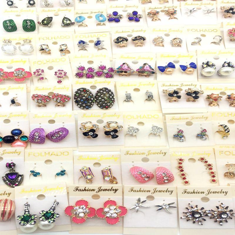Nouveau Design Carré Glitter Doux Boucle D'oreille Stud Party Mignon Élégant Vente Chaude Cristal Strass Accessoires Cadeaux En Gros Paires