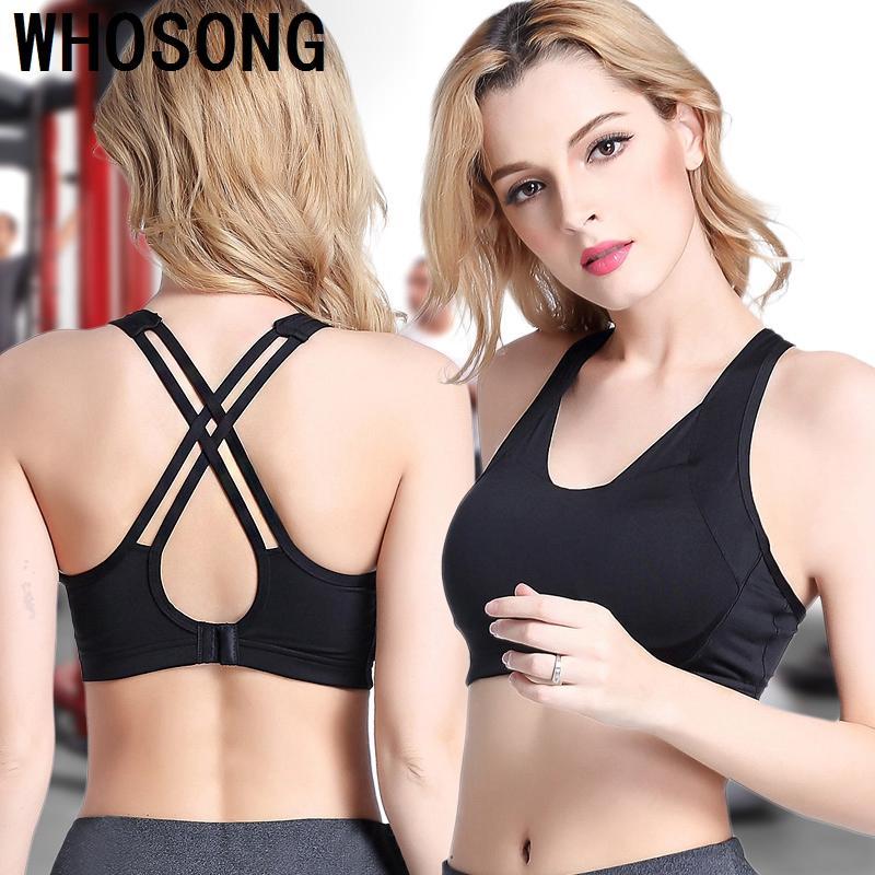 5c3d2b61c7 2019 Woman Back Cross Yoga Bra Compression Sports Bra Sportswear Spaghetti  Strap Fast Dry Elastic Running Sport Top From Onecherry