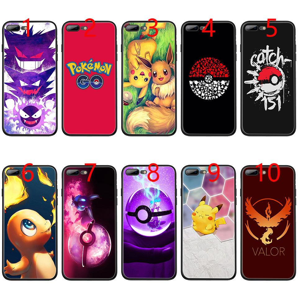 finest selection 77292 3574d Coque pokemons go capinhas para Soft Black TPU Phone Case for iPhone XS Max  XR 6 6s 7 8 Plus 5 5s SE Cover