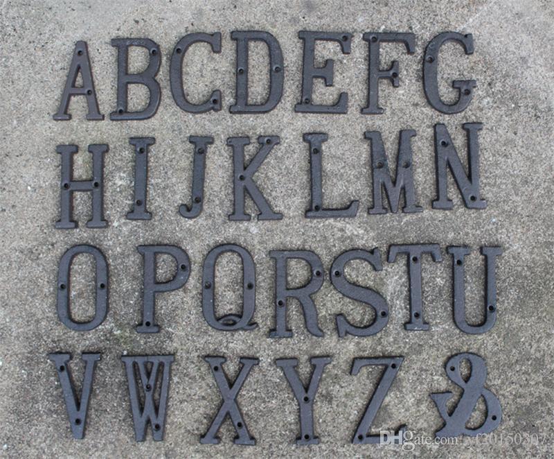 Rustic Iron Metal Letter Party Favors Alphabet A Z House Door
