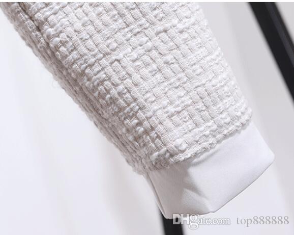 Donne in cotone lana OL set Boutique di lusso Classico famoso marchio sexy retrò signore cashmere Velluto nappa arco cappotto mezza gonna abito di lana