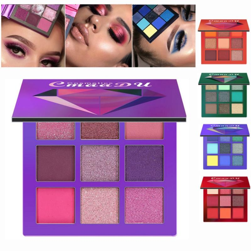 Beauty Essentials Halloween Party Charming Glitter Eyeshadow Palette Matte Shimmer Makeup Palette Pigmented Eye Shadow Make Up Cosmetics Recommend