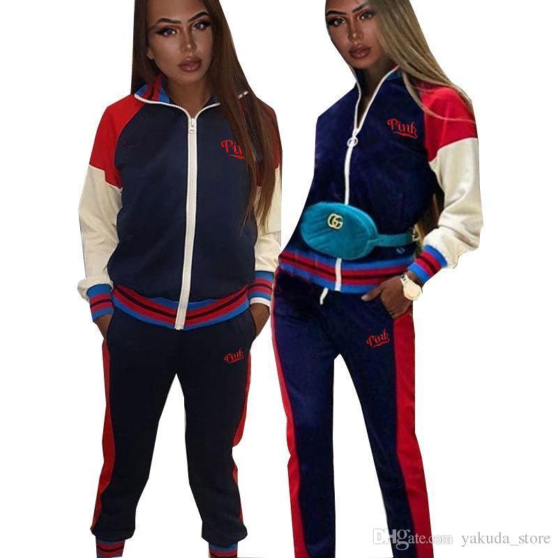 f8329c0a4c4d Factory Womens Two Piece Set Tops Jacket Set Autumn Fashion ...