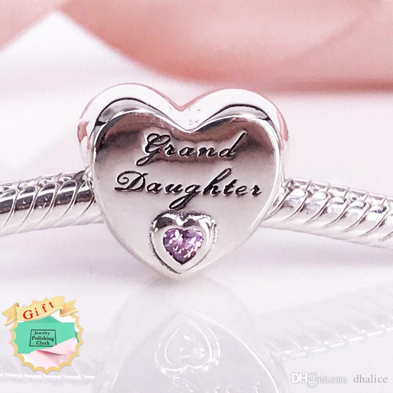 00e6e4dcc 2019 Granddaughter'S Love Charm Authentic 925 Sterling Silver Clear CZ Beads  Fits Snake Bracelets DIY Fine Jewelry Z Charm From Dhalice, $13.09 |  DHgate.Com