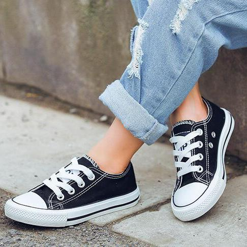 New Brand Designer Kids Canvas Shoes Fashion Casual Shoes Boys and Girls Sports Canvas Children Lace Up Shoes