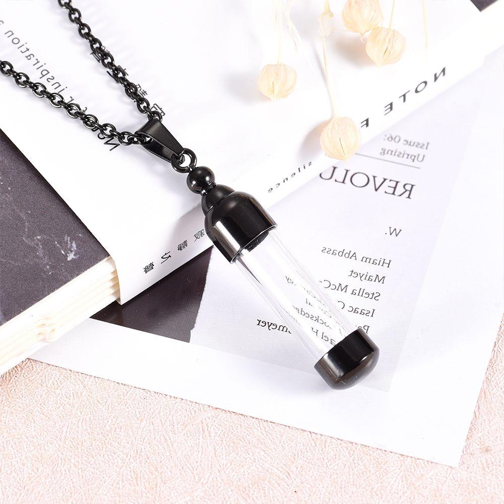 IDJ9887 Sonsuza aşk parfüm Cam Konteyner Silindir Tüp Urn Anıt Keepsake Kolye Kremasyon Takı Külleri Tutucu için