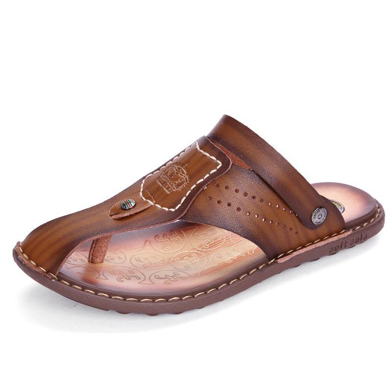 019ed4536910 Nice Summer Sandals Men Soft Leather Men Sandals Pumps Shoes Shoe Sale From  Teaberry