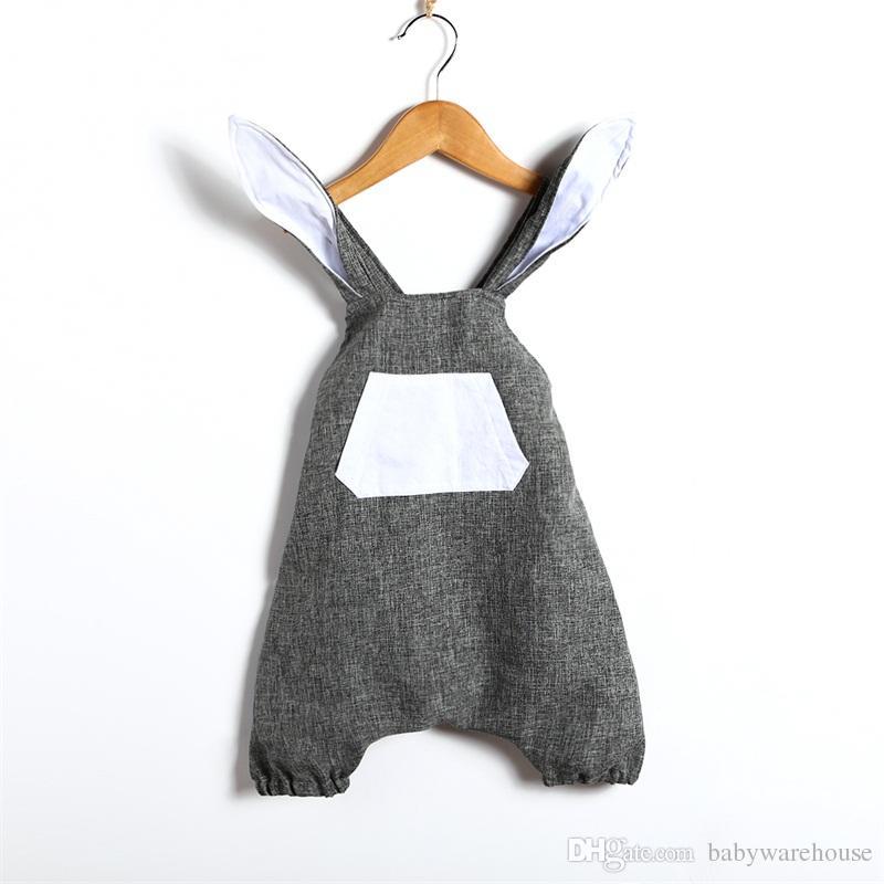 UK Easter Newborn Baby Boys Girls Bunny Knitting Wool Romper Bodysuit Outfit Set