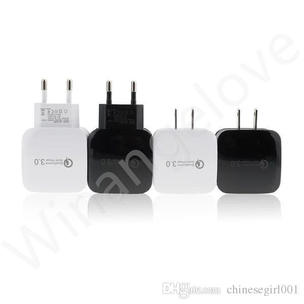 AB ABD Plug QC 3.0 Hızlı Şarj USB AC Duvar Şarj iphone 7 7 Artı Samsung s8
