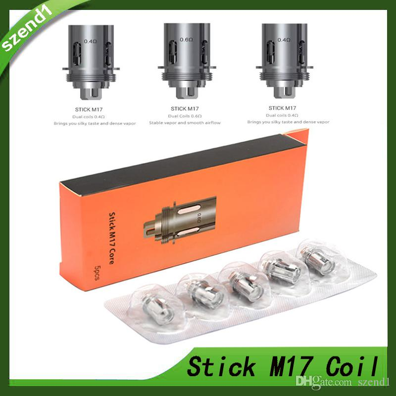 For SMOK Stick M17 Tank 5Pcs//Pack Replacement Coils Head 0.4 0.6ohm