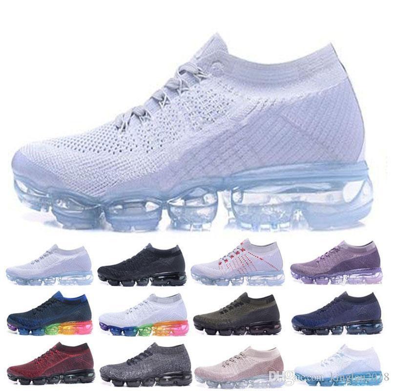 Vapormax Running Shoes 2018 Men Air Casual Sneakers Women Sports Shoes Vapor  Outdoor Hiking Jogging Walking Athletic Sneakers 36-45 Vapormax Basketball  ...
