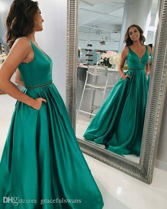 Dark Red A-Line Formal Prom Dresses Sweetheart Tank Beaded Sparkle Beaded Evening Gowns with Pockets Satin Graduation Gowns