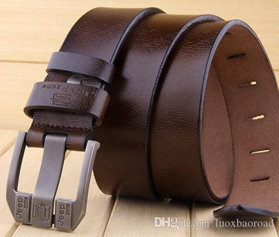 9cd6bed9357 Men s Belt Leather Needle Buckle Middle-aged And Young Trousers Belt ...