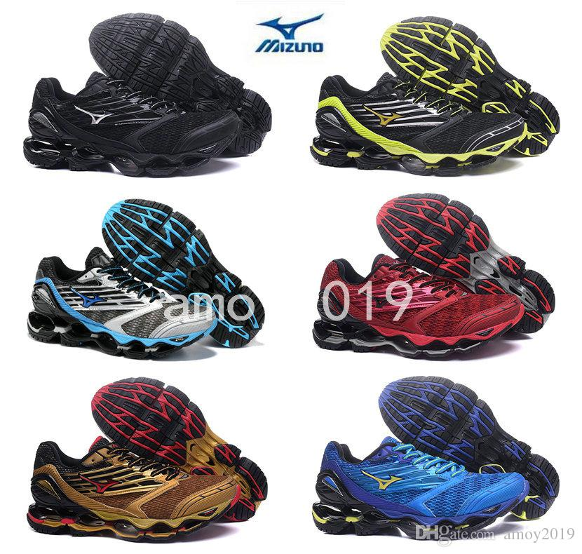 02d606f0e6e6 2018 New Arrive Authentic MIZUNO WAVE PROPHECY 5 Men Designer Sports  Running Shoes Sneakers Mizunos 5s Casual Mens Trainers Size 40 45 Jogging  Shoes Sale ...