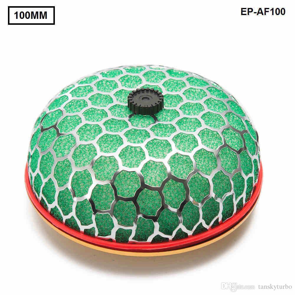 Tansky - Filtro de aire lavable universal Cuello de calibre: 100 mm 3 capas de filtro de aire de esponja Estilo seta para Universal Auto TK-AF100