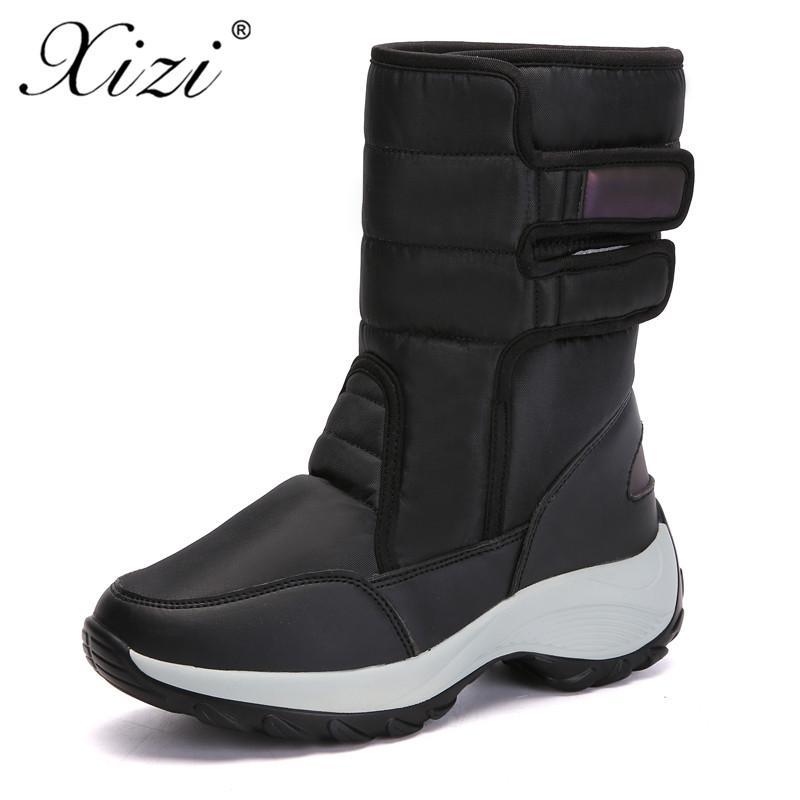 91977daaf Compre XIZI Botas De Invierno Zapatos De Mujer Botines De Nieve Para  Mujeres Moda De Alta Calidad Impermeable Plantilla De Piel Falsa Dama  Zapato De ...