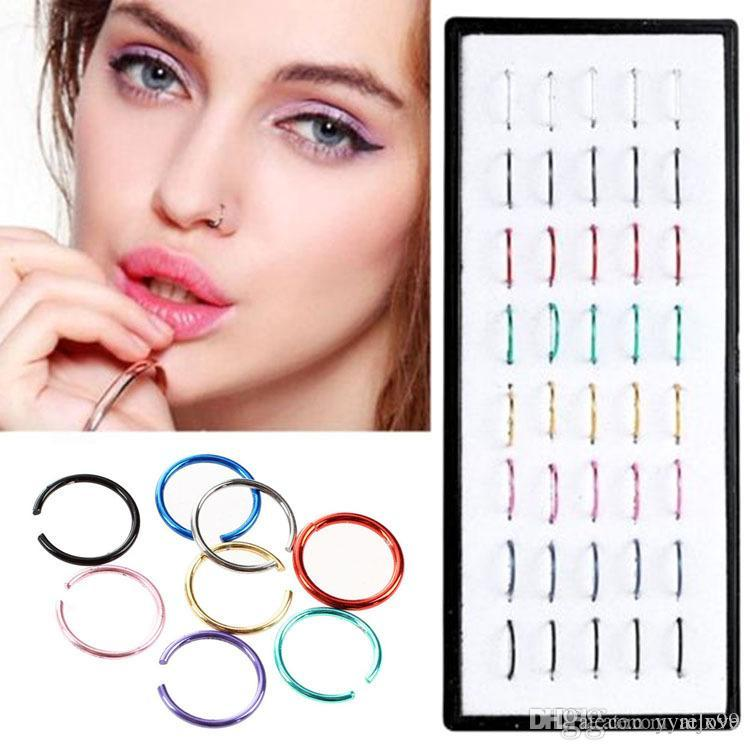 Sexy Fake Nose Ring Circle Clip On Nose Hoop Body Jewelry Non