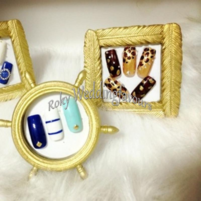 Free shipment Gold Resin Feather Mini Photo Frame Place Card Holder Wedding Favors Party Decor Event Gift Anniversary Supplies