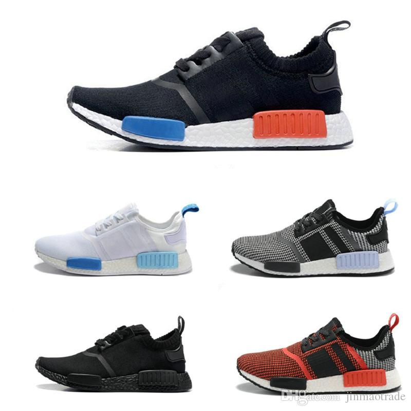 fe2fc5d4abea2 Cheap 2018 Cheap Wholesale Hot NMD R1 Primeknit PK Perfect Authentic Running  Sneakers Fashion Running Shoes NMD Runner Primeknit Sneakers With BOX