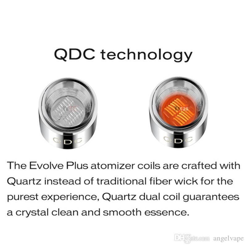 Yocan Evolve Plus Kiti için Otantik Yocan Yedek Bobinler QDC Kuvars Çift Bobinler CDC Seramik Çörek Bobinleri