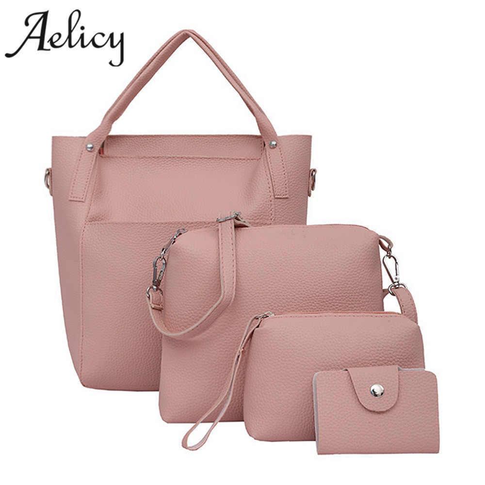 d7dbb91c672e Aelicy 4 PCS/Set Buy One Get four Bags Fashion Four Set Handbag Shoulder  Bags Four bags handbag women famous brands high quality Y18102303