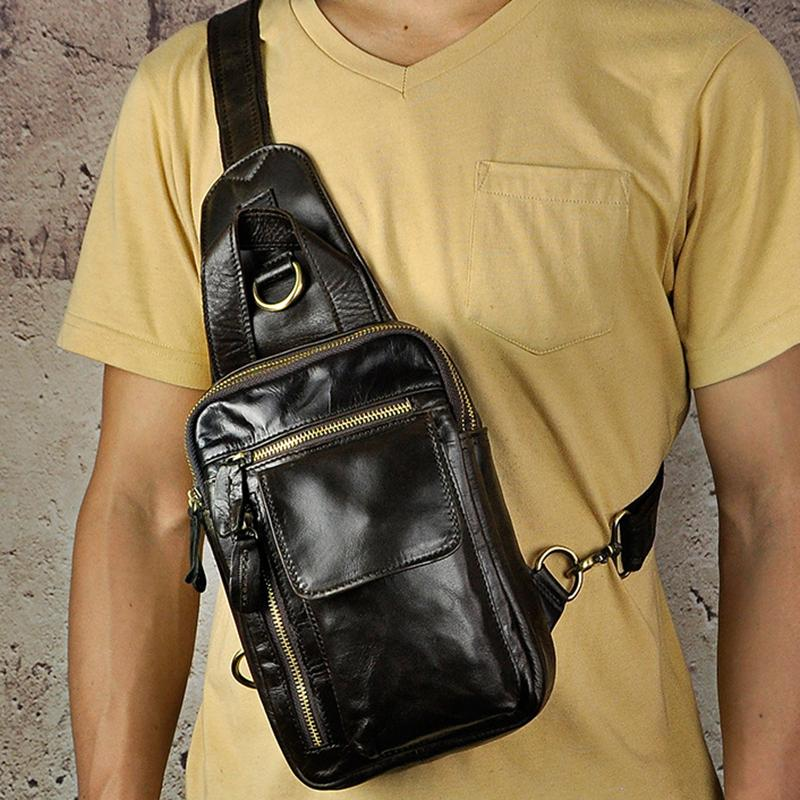 Genuine Leather Men Chest Bags Crossbody Multi Functional Shoulder  Messenger Bag Vintage Sling Day Back Pack Duffel Bags Handbags On Sale From  Showway 6c843d083bfde