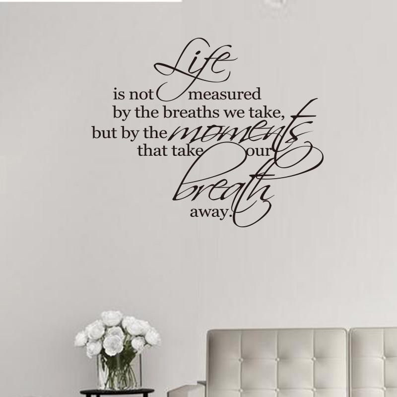 Life Is Not Measured By The Number Of Breaths Wall Decal Vinyl Self