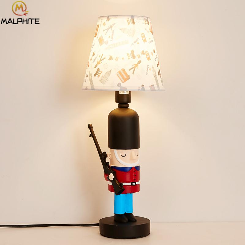 2019 Children Room Table Lights British Soldier Nordic American Boy Girl  Led Desk Lamps Kids Bedroom Light Lighting Decor Fixtures From Kirke, ...
