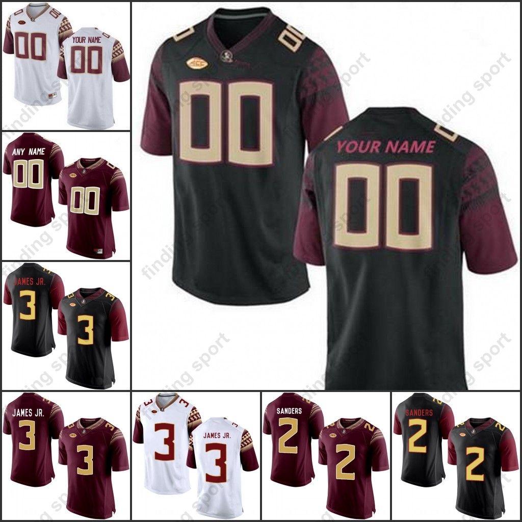 a97c25651af 2019 Custom NCAA Florida State Seminoles College Football FSU 2 Deion  Sanders 12 Deondre Francois 3 Derwin James 4 Dalvin Cook 5 Winston Jerseys  From ...
